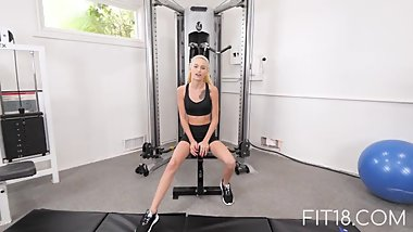 Fit18 - Kiara Cole - 41kg - 155cm - Tiny Naive American Teen - 60FPS