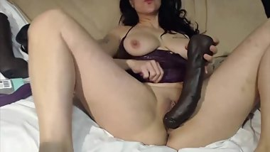 Excited dirty talking slut Sara Swirls stretching vagina