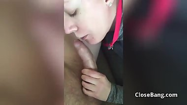 Tinder Date Sucking My Cock