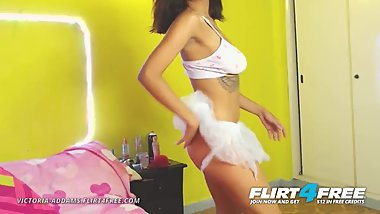 Flirt4Free - Victoria Addams - Sexy Latina with Perfect Tits and Pussy