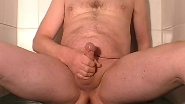 Pissing all over myself Man peeing male wet body with hot ass pissy shower