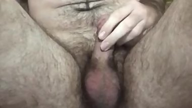 Daddy pissing on himself on bathroom floor