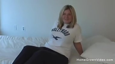 Thick blonde loves having her holes stuffed by a BBC