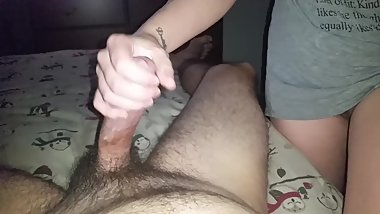 Long Slow Edging Handjob By Girlfriend Leads to Huge Cumshot