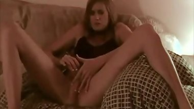 Skinny girlfriend fucked by her boyfriends big cock