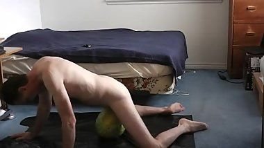 Kevin Yardley fucks a watermelon hard and cums