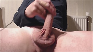 My solo 123 (sitting edging stiff cock to a messy load)
