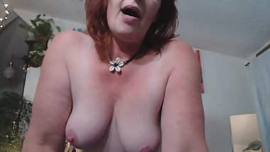 V103 Redhead PAWG fucks younger man.. Round 2!! Cant stay away from his