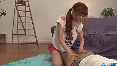Sexy Mikuru Shiina spreads legs for a sharp dick  - More at javhd net