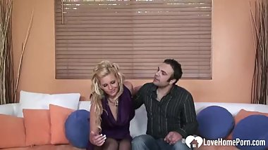 Amazing MILF in stockings gets slammed hard