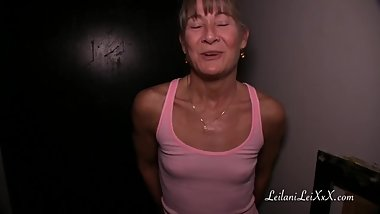 MIlf First Time at Glory Hole