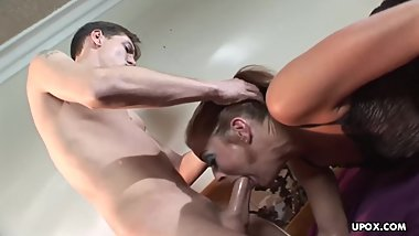 Fucking a busty bitch who loves getting anally pumped