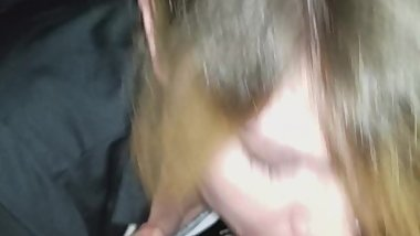 Blowjob before work by girlfriend. Amazing eyes!