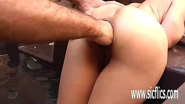 Anal fisting and stretching amateur latina MILF