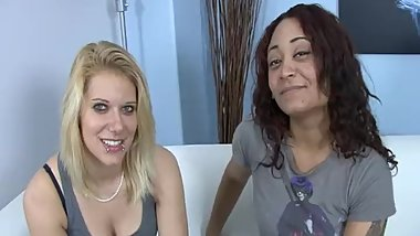 Hot Lesbian Couple Having their first sex