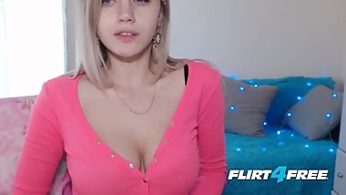 Flirt4Free - Alexia Sun - Petite Blonde Babe with Big Natural Tits