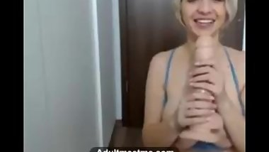 Vicky25 fucking herself with dildo on webcam