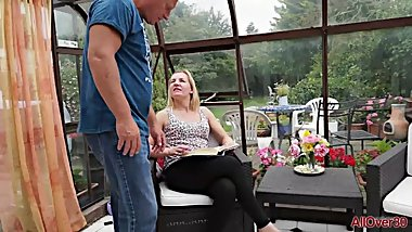 Slut Kate Aveiro is fucked in the conservatory