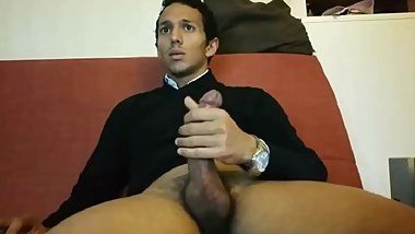 Horny Guy Jerks Off After Work