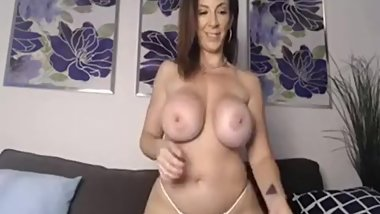 Huge tits Milf on Cam - Part 1    More videos like this at MaturesandMilfs.