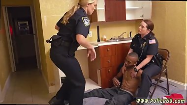 Police woman taped Black Male squatting in