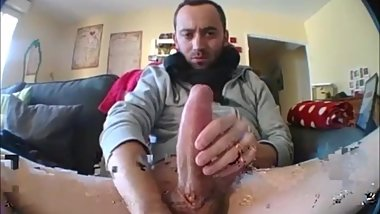 Jerking Very Huge Cock