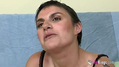 Ana teaches son's friend how to fuck