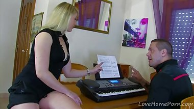 Busty Blonde Needs His Hard Cock Now