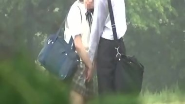 japanese schoolgirl outdoor