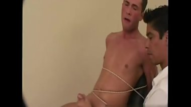 Gay twinks rub cocks against each other